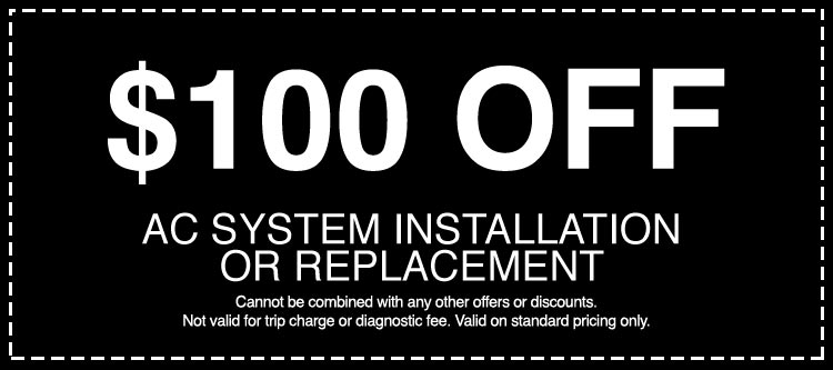 Discounts on AC System Installation or Replacement