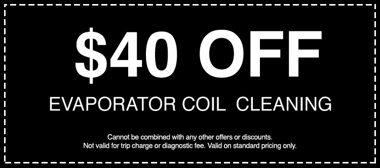 Discounts on Evaporator Coil Cleaning